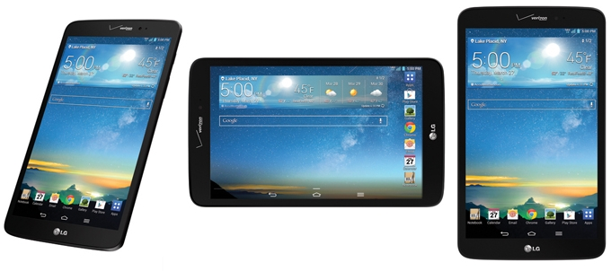 Verizon LTE LG G Pad 8.3 wins