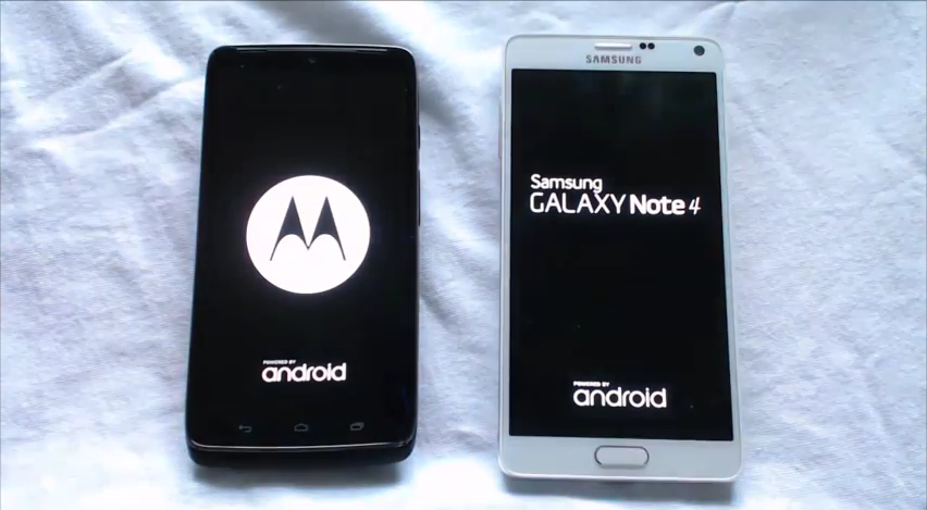 DROID Turbo vs Galaxy Note 4 Boot Speeds