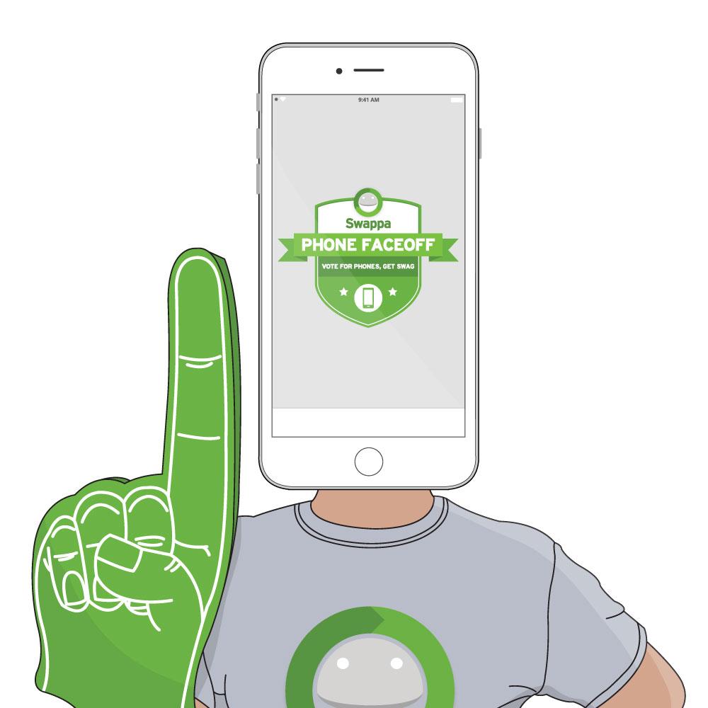 Swappa Phone Faceoff Fan