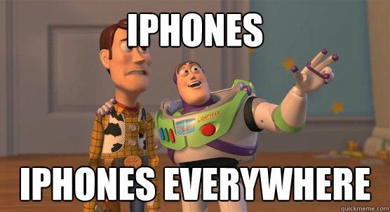 iphones everywhere