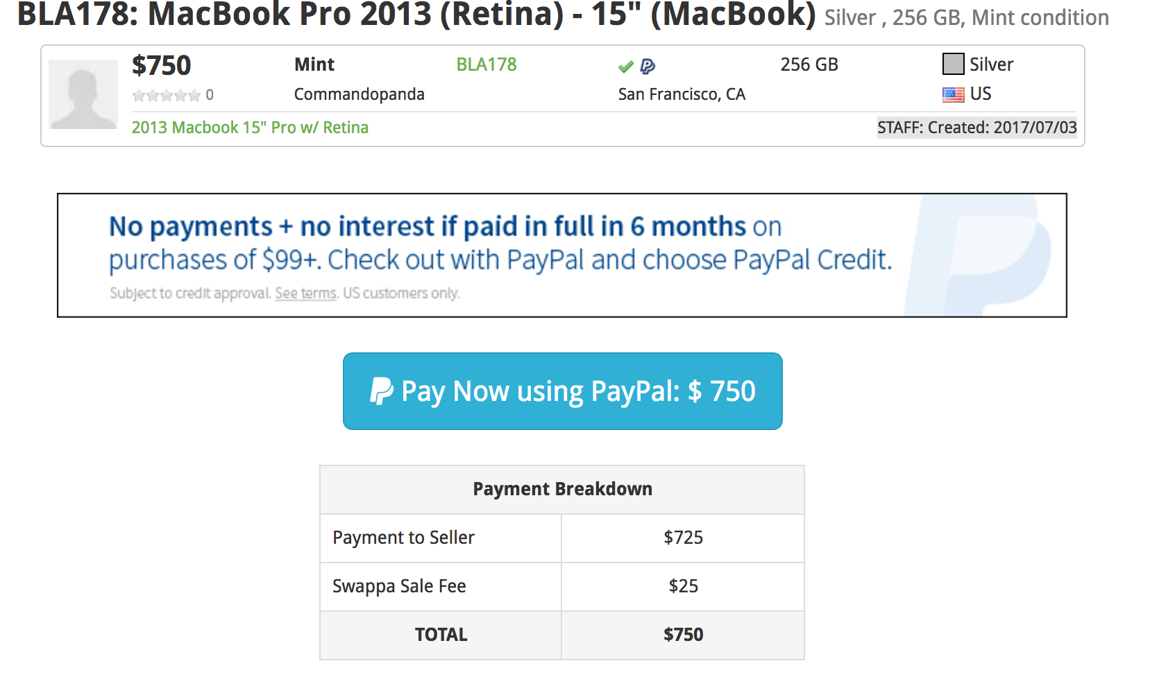 Buy a used MacBook using PayPal Credit - Swappa Blog