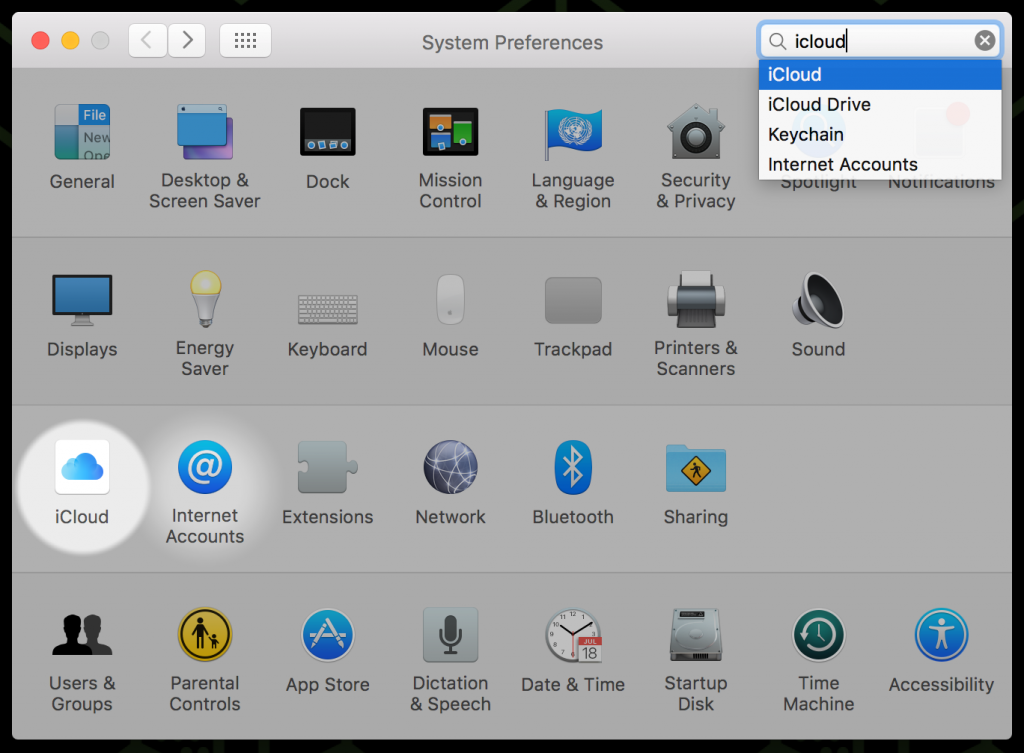 System Preferences > iCloud