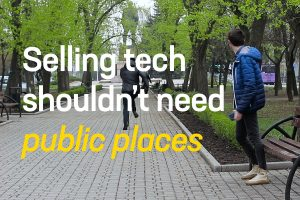 Selling tech shouldn't need public places