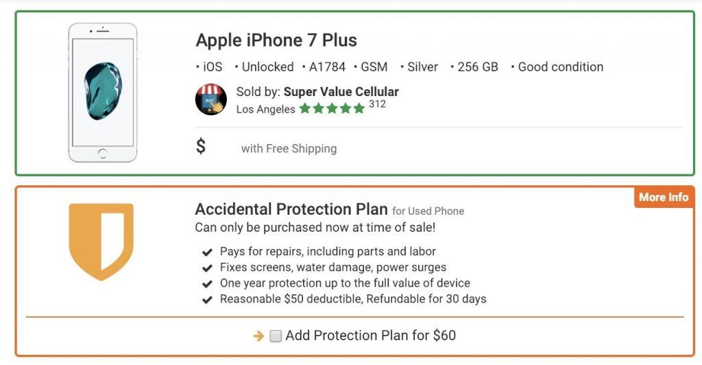 iPhone 7 Plus protection plan, iPhone 7 Plus accident protection, iphone 7 plus extended warranty