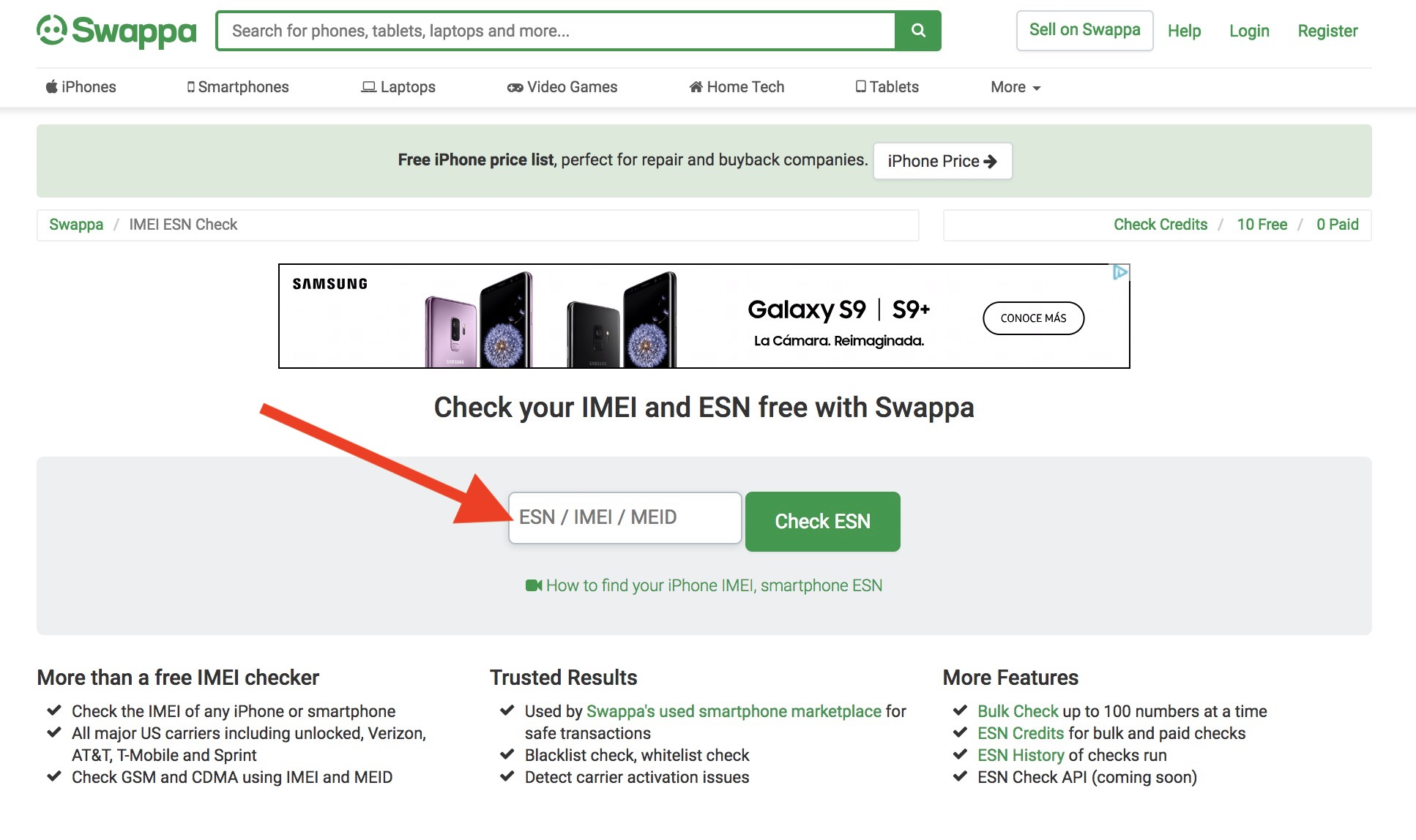 How to get a free IMEI check online - Swappa Blog