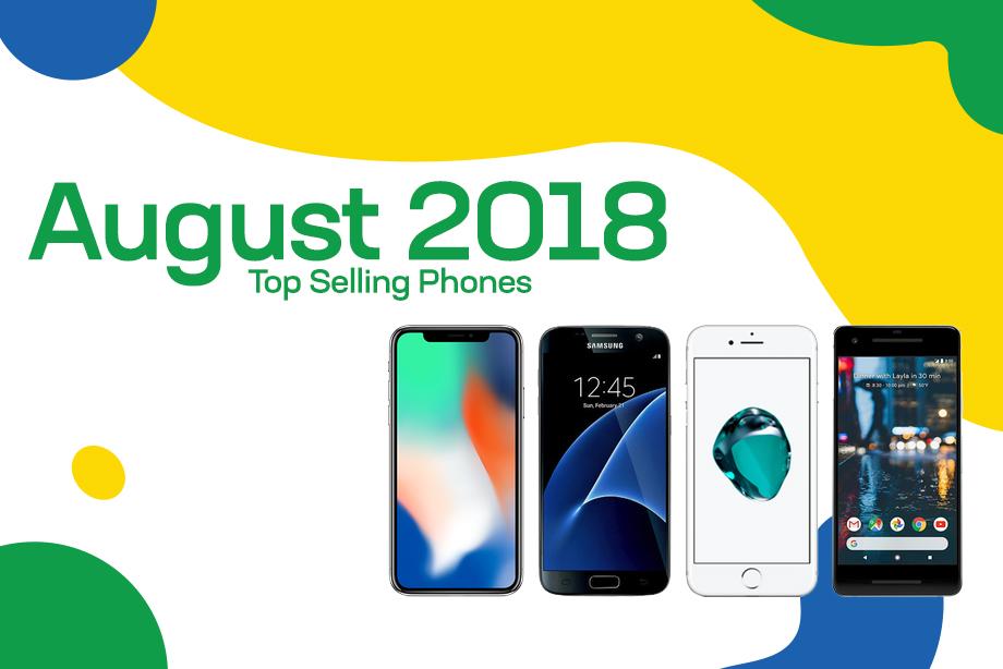Top selling used phones – August 2018