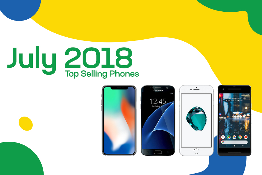Top selling used phones – July 2018