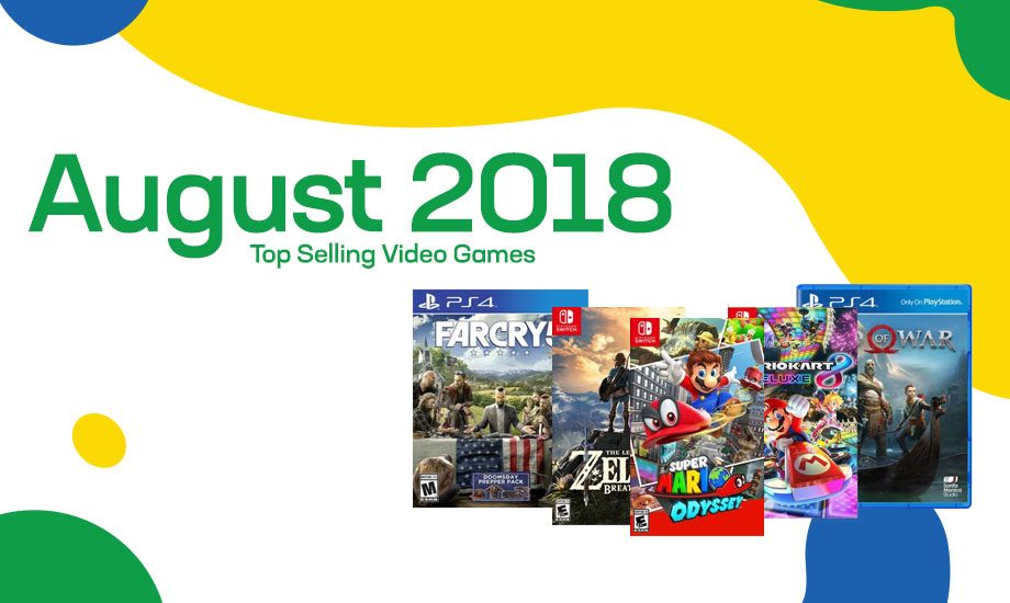 Top selling used video games – August 2018