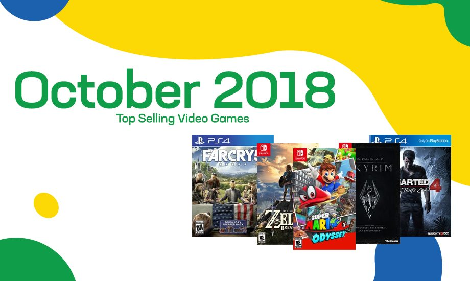 Top selling used video games – October 2018