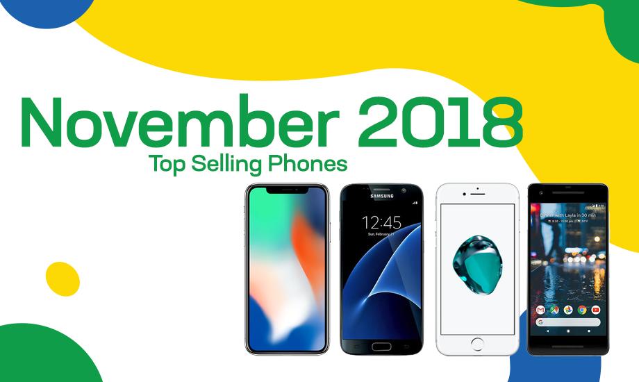 Top selling used phones – November 2018