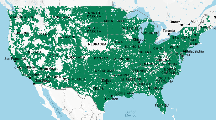 Mint Mobile 4G LTE Coverage