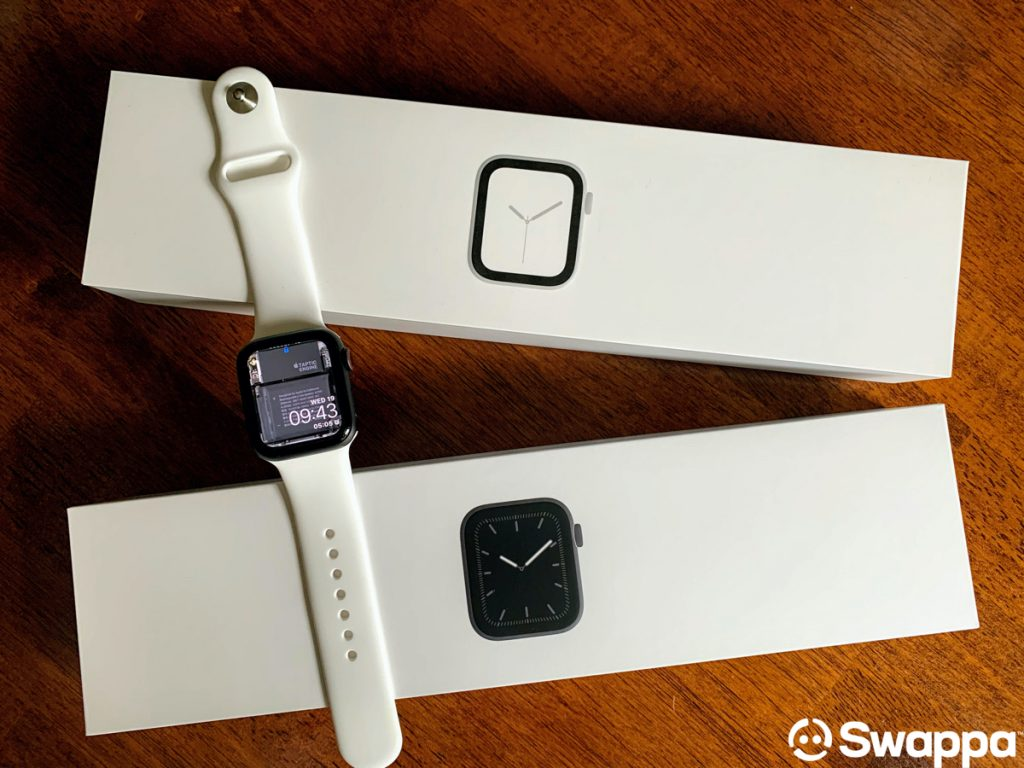Apple Watch Series 5 with Apple Watch boxes
