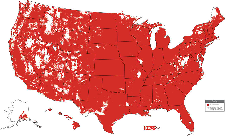 Verizon Coverage Map