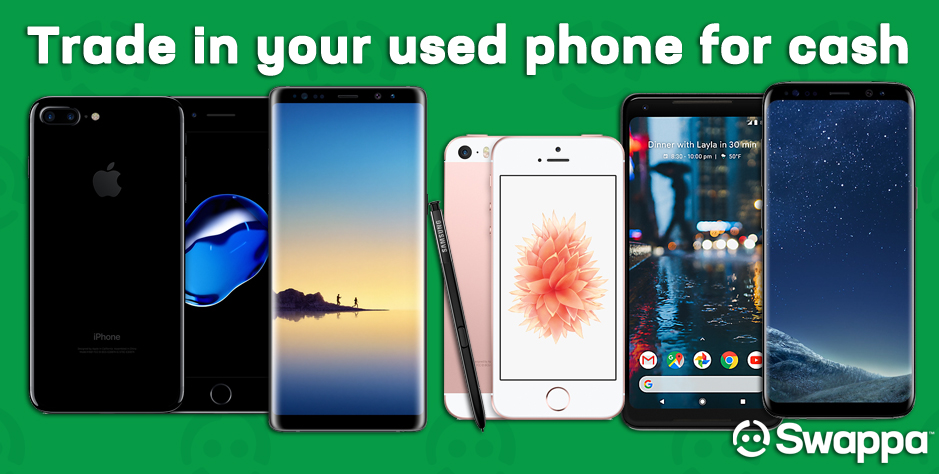 How can I trade in my used cell phone for cash?