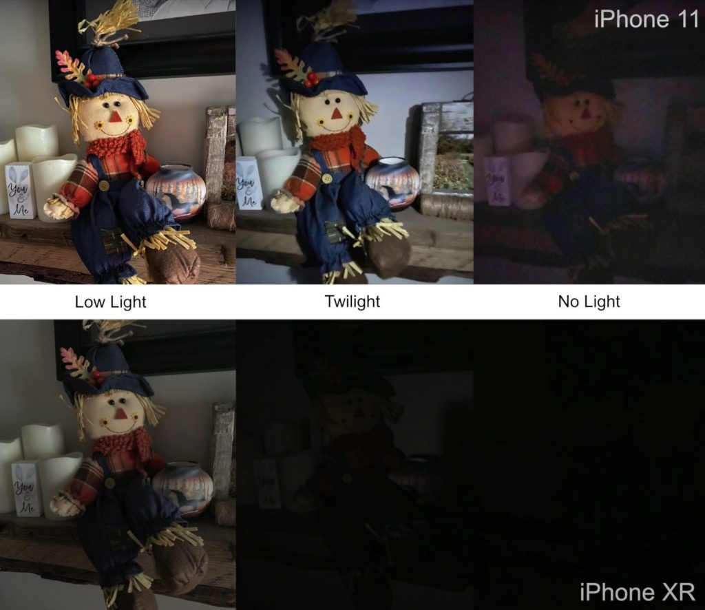 Comparison between iPhone 11 and iPhone XR cameras in a variety of lighting conditions.
